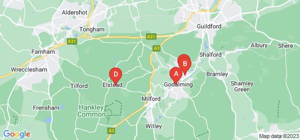 Google static map for Godalming