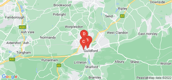 Google static map for Guildford