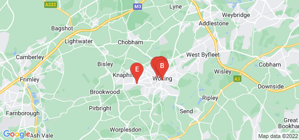 Google static map for Woking
