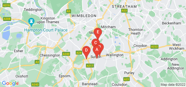 Google static map for Sutton
