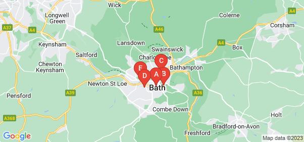 Google static map for Bath
