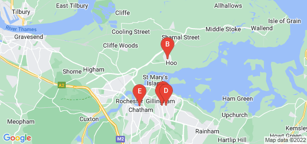 Google static map for Medway
