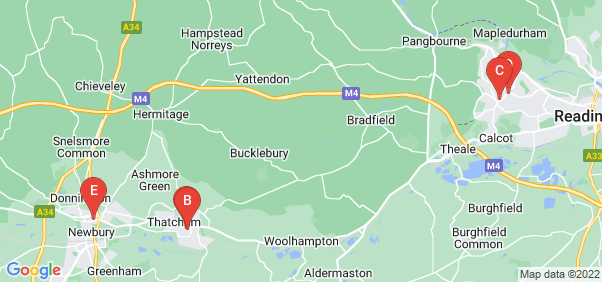 Google static map for Berkshire