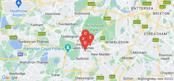 Google static map for Kingston Upon Thames