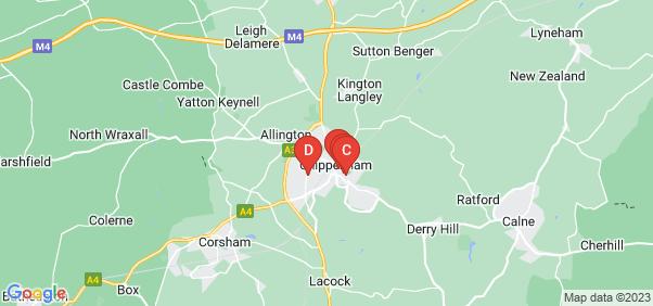 Google static map for Chippenham