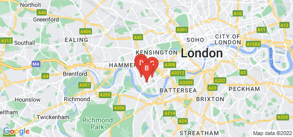 Google static map for Fulham