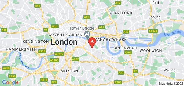 Google static map for Bermondsey