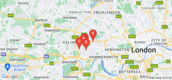 Google static map for Acton
