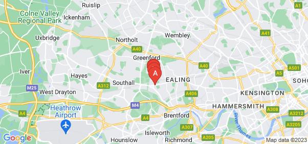 Google static map for Hanwell