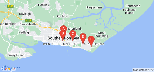 Google static map for Southend On Sea