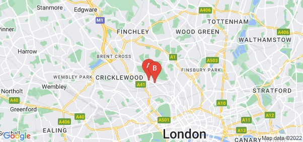Google static map for Hampstead