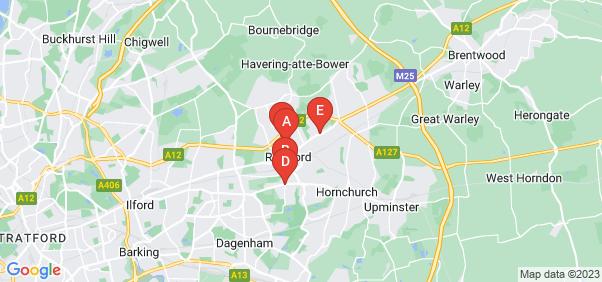 Google static map for Romford