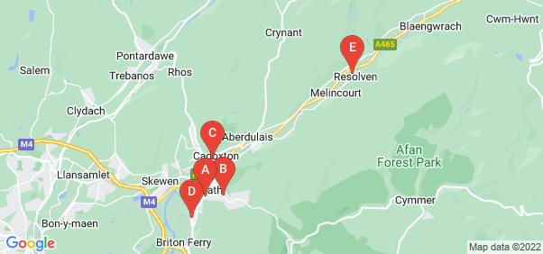 Google static map for Neath