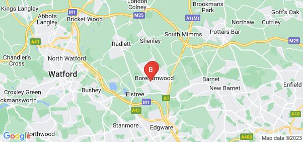 Google static map for Borehamwood