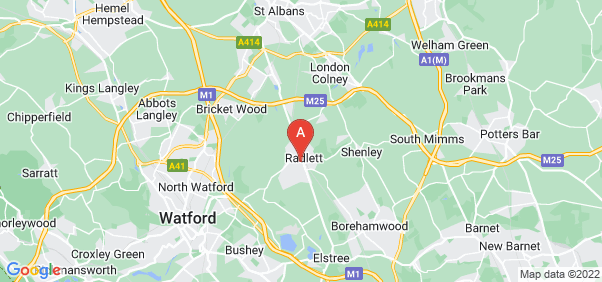 Google static map for Radlett