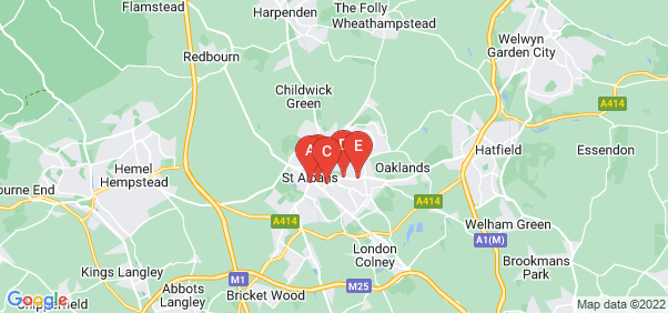 Google static map for St Albans