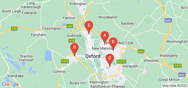 Google static map for Oxford