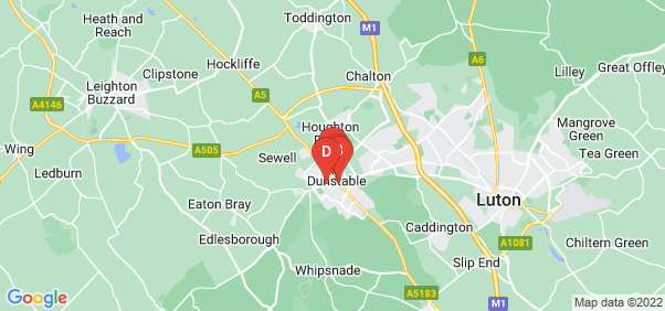 Google static map for Dunstable