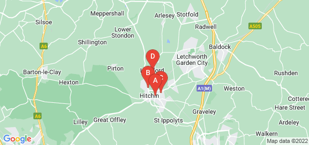 Google static map for Hitchin