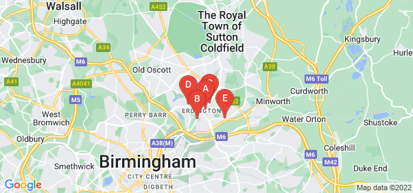 Google static map for Erdington