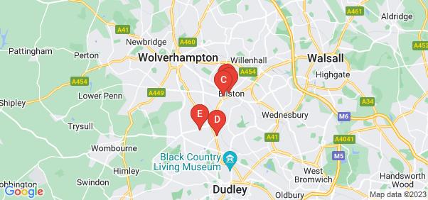 Google static map for Bilston