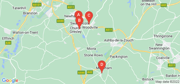 Google static map for Swadlincote