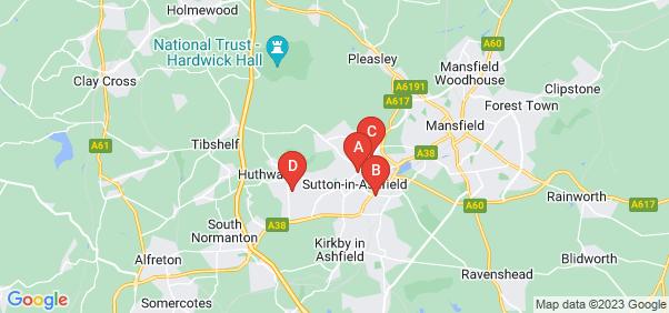Google static map for Sutton In Ashfield