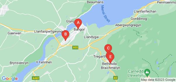 Google static map for Bangor