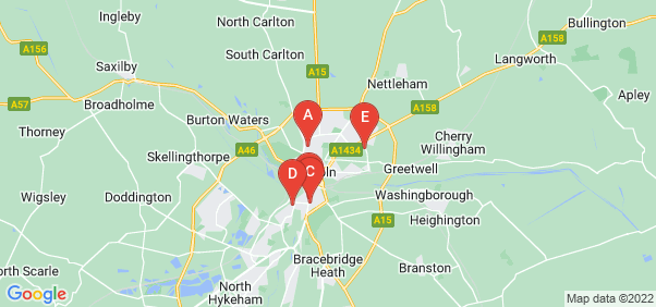 Google static map for Lincoln