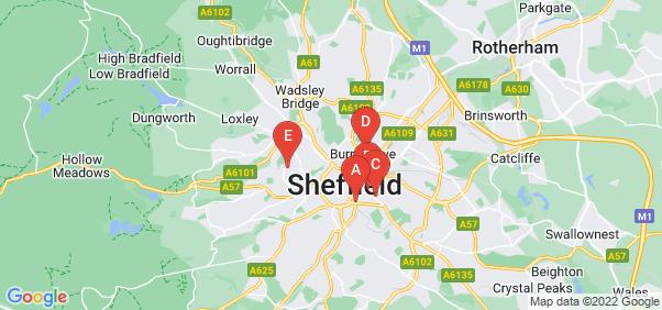 Google static map for Sheffield