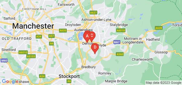 Google static map for Denton