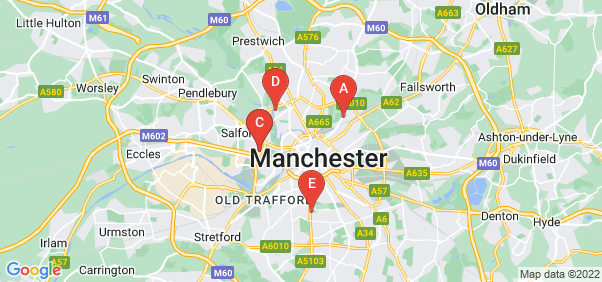 Google static map for Manchester