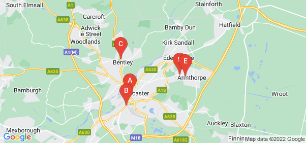 Google static map for Doncaster