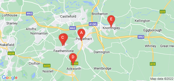 Google static map for Pontefract