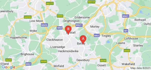 Google static map for Batley