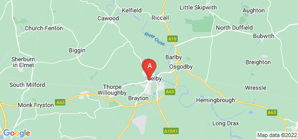 Google static map for Selby