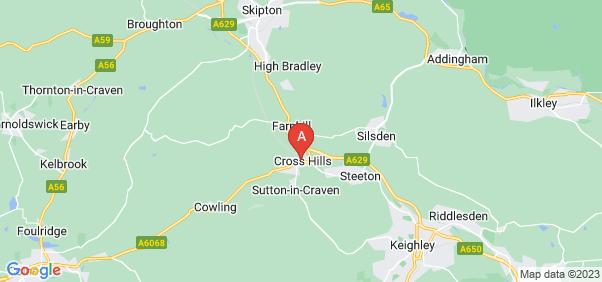 Google static map for Cross Hills
