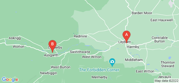 Google static map for Leyburn