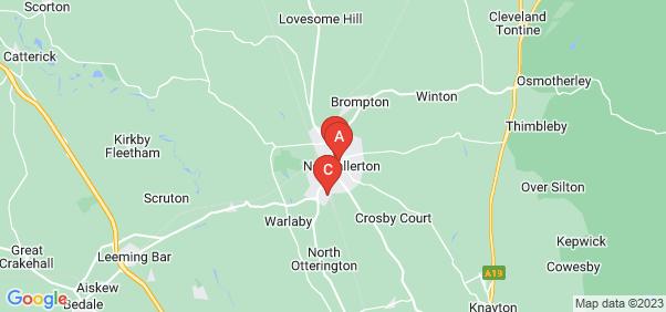 Google static map for Northallerton