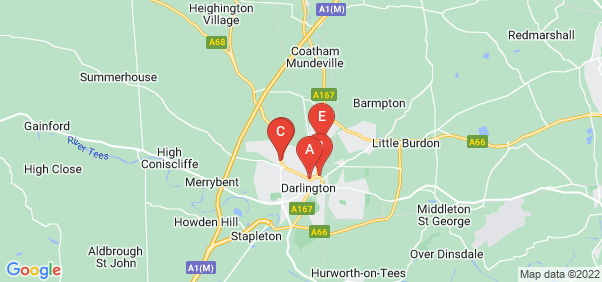 Google static map for Darlington