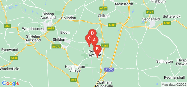 Google static map for Newton Aycliffe
