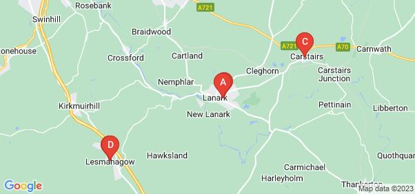 Google static map for Lanark