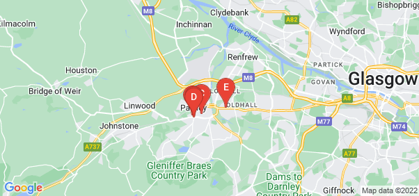 Google static map for Paisley
