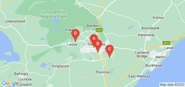 Google static map for Glenrothes