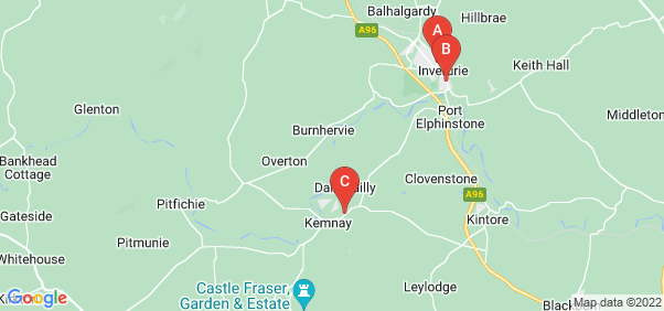 Google static map for Aberdeenshire