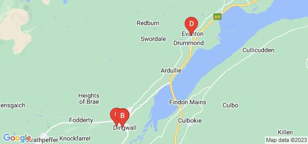 Google static map for Dingwall