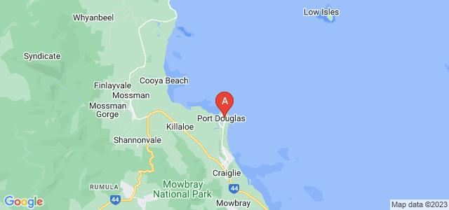Google static map for Port Douglas