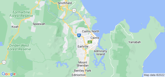 Google static map for Cairns