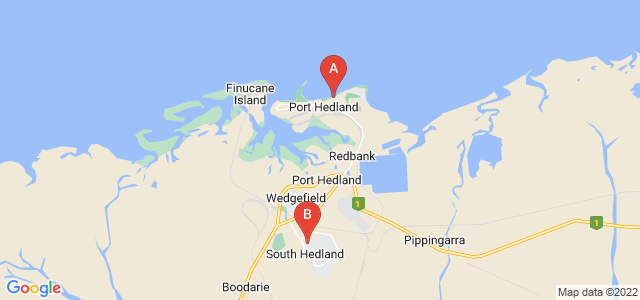 Google static map for Port Hedland