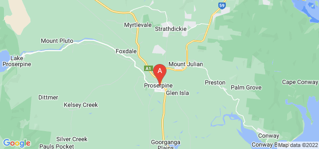 Google static map for Proserpine